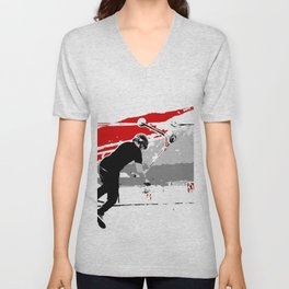 Spinning the Deck - Tail-whip Scooter Stunt Unisex V-Neck