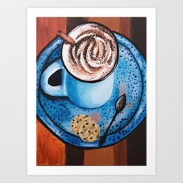Cappucino Time Art Print