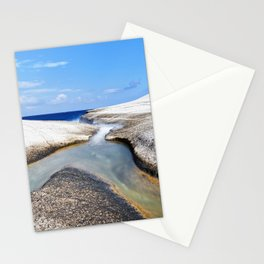 Confluence on pumice beach Stationery Cards