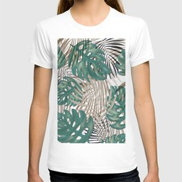 Tropical Leaves Nature Print Palm Fronds T-shirt