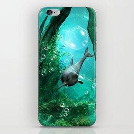 Swimming dolphin iPhone Skin
