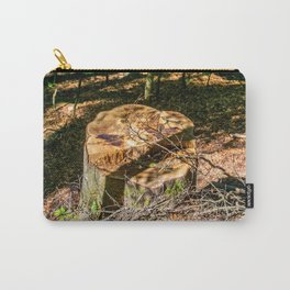 Tree Stump of cut down Tree in the Forest (orange/brown) Carry-All Pouch