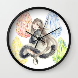 Bravely Default Agnes & Crystals Watercolor Wall Clock