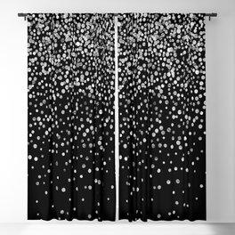 Black & Glam Silver Confetti Blackout Curtain
