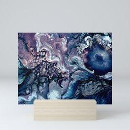 Obsession in blue Mini Art Print