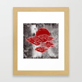 The Red Clouds Framed Art Print