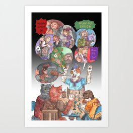 DnD Cats Art Print
