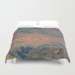 Pink Neon Marble - Earth Gum #nature #planet #marble Duvet Cover