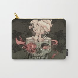 Red Fish and Smokey Skull Carry-All Pouch
