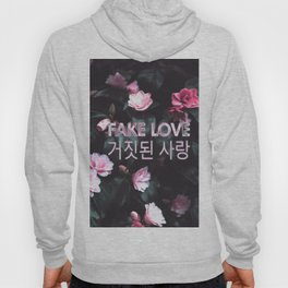 Fake Love Pink Floral Hoody
