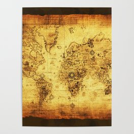 Old map posters society6 arty vintage old world map poster gumiabroncs Gallery