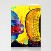 daft punk Stationery Cards featuring Daft Punk by Archan Nair