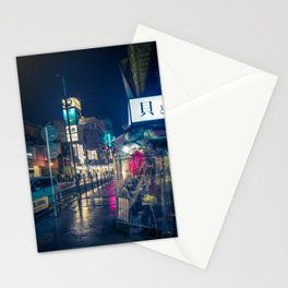 Colors in the Rain over Tokyo Japan Street Photography Stationery Cards