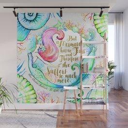 But A Mermaid Has No Tears Wall Mural