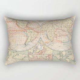 Vintage World Ocean Currents Map (1905) Rectangular Pillow
