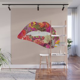 For Flowers Sake (Kiss Me) Wall Mural