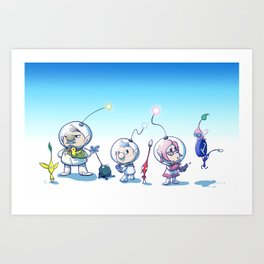 Pikmin Art Print