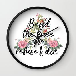 bend the knee Wall Clock