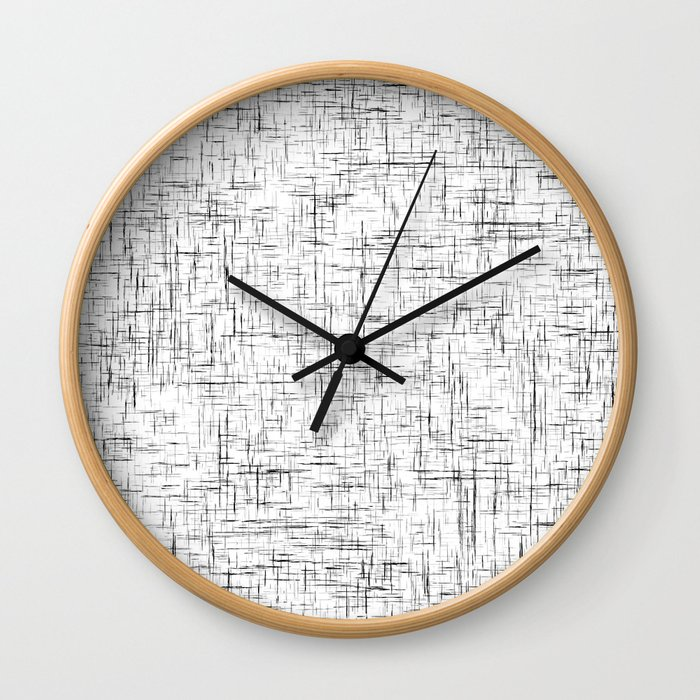 Ambient 77 in B&W 1 Wall Clock