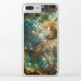 Part of the Tarantula Nebula Clear iPhone Case