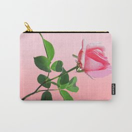 Pink Rose in Bloom Carry-All Pouch