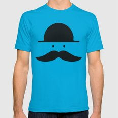 mustache Mens Fitted Tee 2X-LARGE Teal