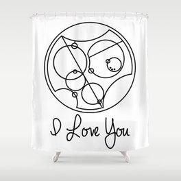 I Love you Gallifreyan Doctor Who Shower Curtain