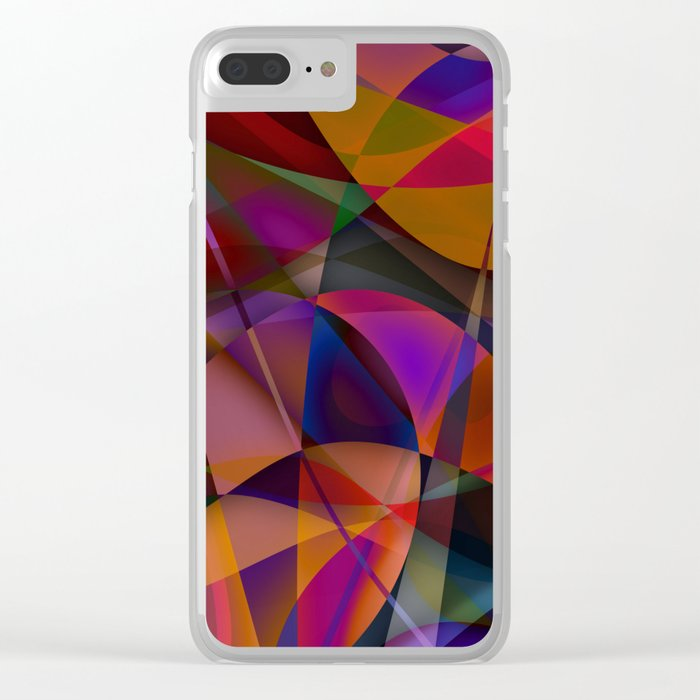 Abstract #376 Clear iPhone Case