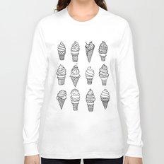 Ice Cream Cones, Drawing Long Sleeve T-shirt