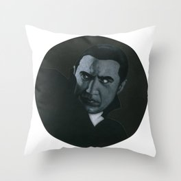 Bram Stoker's Dracula on vinyl record print Throw Pillow