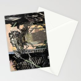 Martian attack Stationery Cards