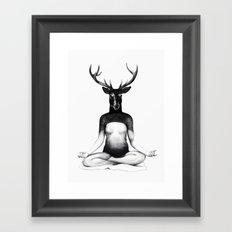 Deer Yoga Framed Art Print