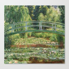 Bridge over a Pond of Water Lilies - Monet Canvas Print