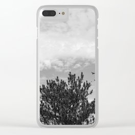 Tree Black and White Clear iPhone Case