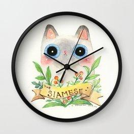 The Siamese Cat Wall Clock
