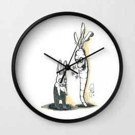 EVIL CARROT Wall Clock