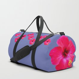 Red Hibiscus Duffle Bag