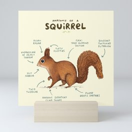 Anatomy of a Squirrel Mini Art Print