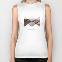 parks Biker Tanks featuring National Parks: Badlands by Roadtrippers