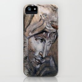 """Wolfquest"" - original is guache. iPhone Case"