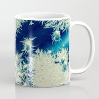 jack frost Mugs featuring jack frost by Bonnie Jakobsen-Martin