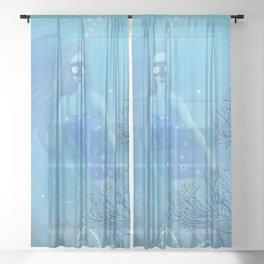 Blue Sheer Curtain