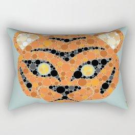 Colourblind Tiger Rectangular Pillow