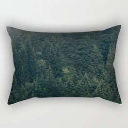Mystic Pines - A Forest in the Fog Rectangular Pillow
