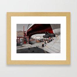 New Bridge over the Canal  Framed Art Print