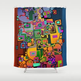 Cubism Modern Art - Dancing In The City 1 Shower Curtain