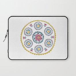 Suzani inspired floral blue 3 Laptop Sleeve