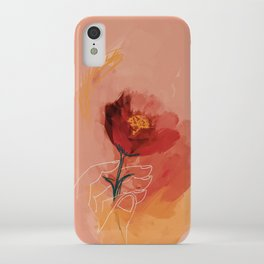 Hand Holding Flower iPhone Case