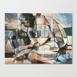 They Draw Sunsets In The Sand Canvas Print
