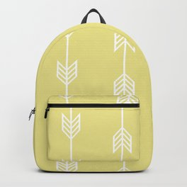 Running Arrows in White and Yellow Backpack